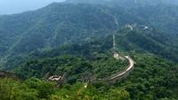 Vista de la cima de la montaña con vistas a la Gran Muralla de China 4K