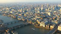 Vista aérea del horizonte de Londres 4K