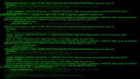 código hacker corriendo