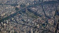Flygfoto över Paris