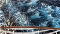 View of Ocean Waves From Boat Deck 4K