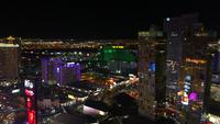 Pan Of The Strip In Las Vegas At Night 4K