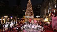 Lumières de Noël et décorations la nuit, Bangkok Thaïlande