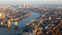 Aerial of Tower Bridge in London 4K