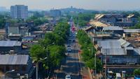 Vista aérea del tráfico en Beijing China 4K