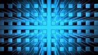 Abstracte moderne blauwe kubussen