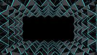 Cuadrícula de triángulo oscuro futurista
