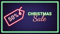 Christmas Sale Neon Light Effect Animation