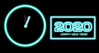 Countdown von 2019-2020 Veränderung Frohes Neues Jahr 2020