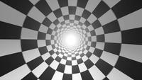 Sömlös loopning för abstrakt schackbrettvortexbakgrund