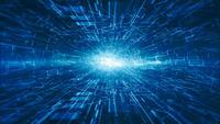 Fondo abstracto de alta tecnología digital y movimiento de información