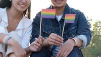 Feliz pareja LGBT
