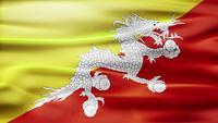 Bucle de bandera de Bután