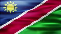 Bucle de bandera de Namibia