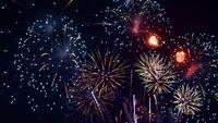 Fogo de artifício à noite