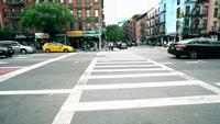 Quartier de NYC City Street Crosswalk