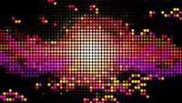 Fondo de bucle abstracto animación mosaico punteado