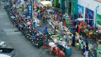 Blurred time lapse of Street market