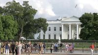 Toeristen die het Witte Huis in Washington DC bezoeken