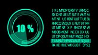 Grüne 2D-Digital-HUD-Grafik