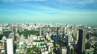 Cityscape van Bangkok in de horizon van Thailand