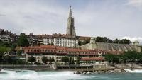 Timelapse Bern City, Schweiz huvudstad