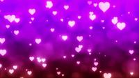 Pink Hearts valentines background video clip