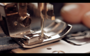 Macro 4k Of A Sewing Machine Working