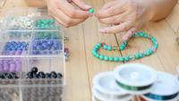Collier femme en turquoise