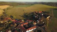 Flying over a village in 4K