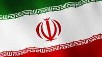 IRAN flag waving, A flag animation background. The Islamic Republic of Iran