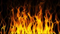 Abstract Digital Fire Flame Background Video Loop