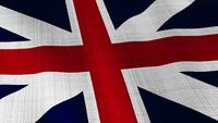 Closeup of British United Kingdom UK flag blowing