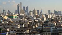 Vista da cidade de Bangkok, Tailândia em lapso de tempo durante o dia