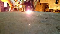 Skär stål med gas