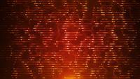 Boucle de fond abstrait technologie fractale de gauche à droite