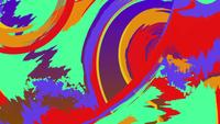 Bunte Kunstaquarellanimation des abstrakten Schmutzes