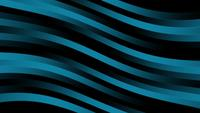Glowing dark blue stripes wave lines on black background