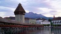 Cidade de Lucerna na Suíça