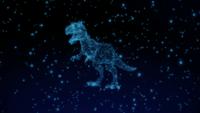 Technologie holographisches Anzeige-Dinosaurierkonzept