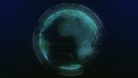 Holograma de tierra verde