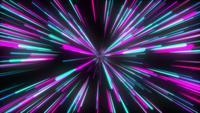 Túnel colorido da luz de néon