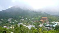 Timelapse van Ngong Ping Village in China