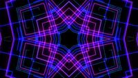 Abstract light neon laser show on black background