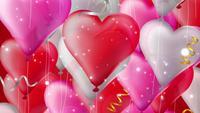 Globos voladores del corazón