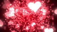 Harten en deeltjes achtergrond