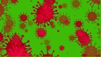 Coronavírus 2019-nCov romance coronavírus em um fundo de tela verde
