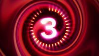 Wissenschaft futuristische Countdown-Animation