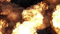 Fuego, bomba o explosión nuclear.