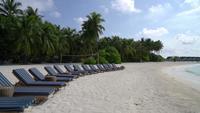 Strandstoelen op de Malediven